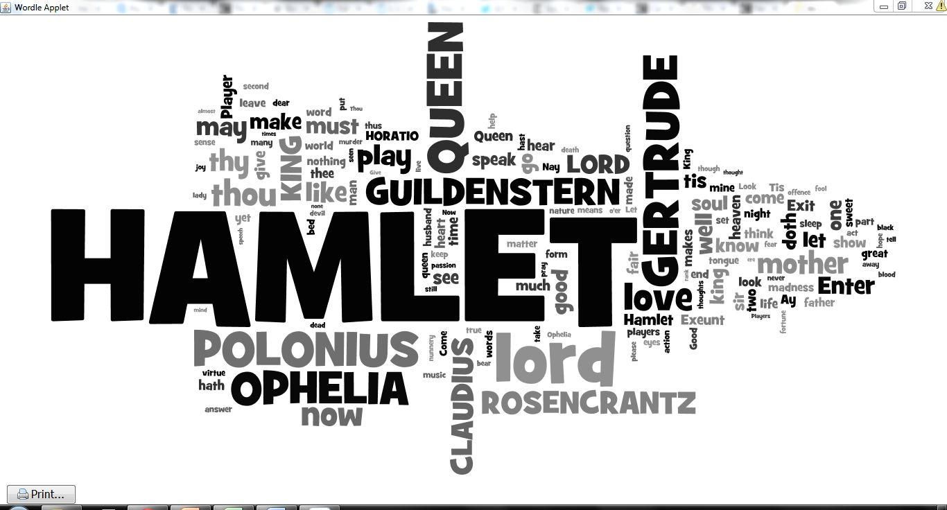 hamlet analysis: